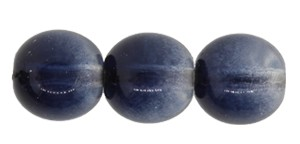 Druk Smooth Round Beads #4158 6mm Smoke Grey/Sapphire (1,200 Pieces) - CLEARANCE