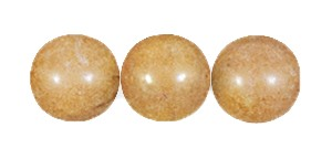 Decora Druk Smooth Round Beads #4151 6MM Light Pecan (1,200 Pieces)