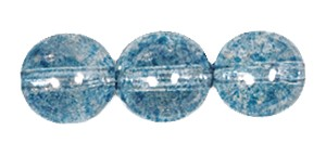 Decora Druk Smooth Round Beads #4151 6MM Sky Blue (1,200 Pieces)