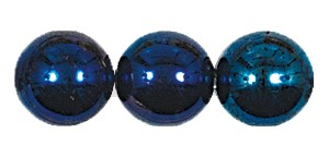 Druk Smooth Round Beads #4150 10MM Blue Iris (300 Pieces)