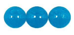 Druk Smooth Round Beads #4150 10MM Capri Blue Opal (300 Pieces)
