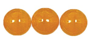 Druk Smooth Round Beads #4150 10MM Orange Opal (300 Pieces)