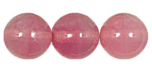 Druk Smooth Round Beads #4150 8MM Pink Opal (600 Pieces)