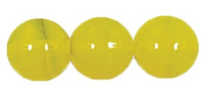 Druk Smooth Round Beads #4150 10MM Yellow Opal (300 Pieces)