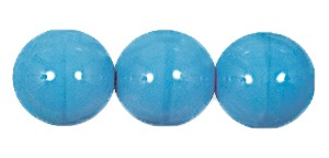 Druk Smooth Round Beads #4150 6MM Opaque Blue Turquoise (1,200 Pieces)