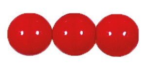 Druk Smooth Round Beads #4150 12MM Opaque Cherry (300 Pieces)