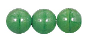 Druk Smooth Round Beads #4150 12MM Opaque Green (300 Pieces)