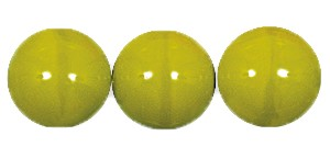 Druk Smooth Round Beads #4150 6MM Opaque Moss Green (1,200 Pieces)