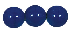 Druk Smooth Round Beads #4150 14MM Opaque Navy Blue (300 Pieces)