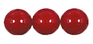 Druk Smooth Round Beads #4150 12MM Opaque Red (300 Pieces)