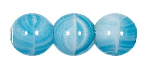 Druk Smooth Round Beads #4150 10MM Aqua Quartz (300 Pieces)