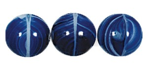 Druk Smooth Round Beads #4150 8MM Navy Blue Quartz (600 Pieces)