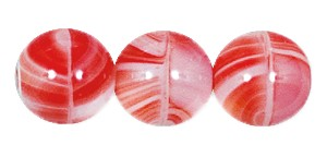 Druk Smooth Round Beads #4150 10MM Red Quartz (300 Pieces)