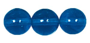 Druk Smooth Round Beads #4150 6MM Capri Blue (1,200 Pieces)