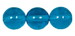 Druk Smooth Round Beads #4150 10MM Dark Aqua (300 Pieces)