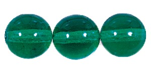 Druk Smooth Round Beads #4150 10MM Emerald (300 Pieces)