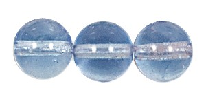 Druk Smooth Round Beads #4150 6MM Light Sapphire (1,200 Pieces)