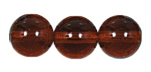 Druk Smooth Round Beads #4150 10MM Smoke Topaz (300 Pieces)