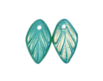 Iridescent Leaf Pendants