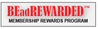 BEadREWARDED Membership Program Logo, HarMan Importing's official Swarovski wholesale loyalty program. Click to see all the benefits of the program, including free shipping credits.