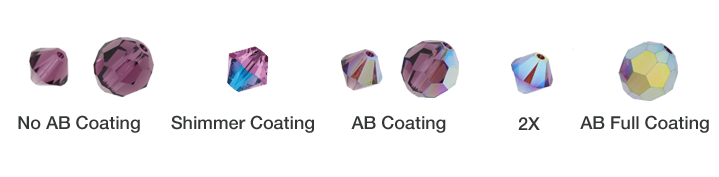 4f7aac49b ... with an improved technology and offers a higher intensity AB effect. To  date, the Full Coated AB effect is only available in Swarovski's round  bead, ...