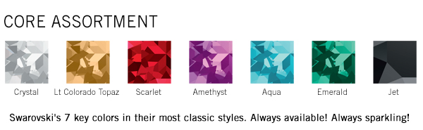 Swarovski crystal: The Core Assortment