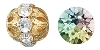 Swarovski Rhinestone Filigree Beads 9755 16mm Gold/Crystal AB (12 Pieces) - CLEARANCE