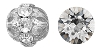 Swarovski Rhinestone Filigree Beads 9755 16mm Silver/Crystal (12 Pieces) - CLEARANCE