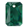 Swarovski 6435 Emerald Cut Pendant 11.5mm Emerald