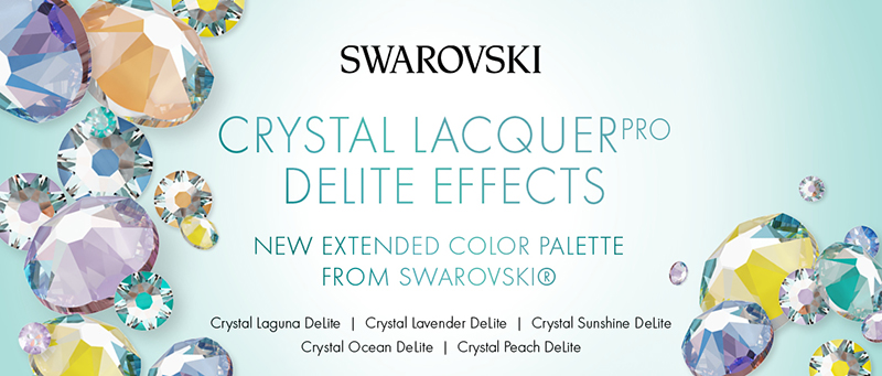 More Swarovski crystal DeLite Effects - New Colors!!