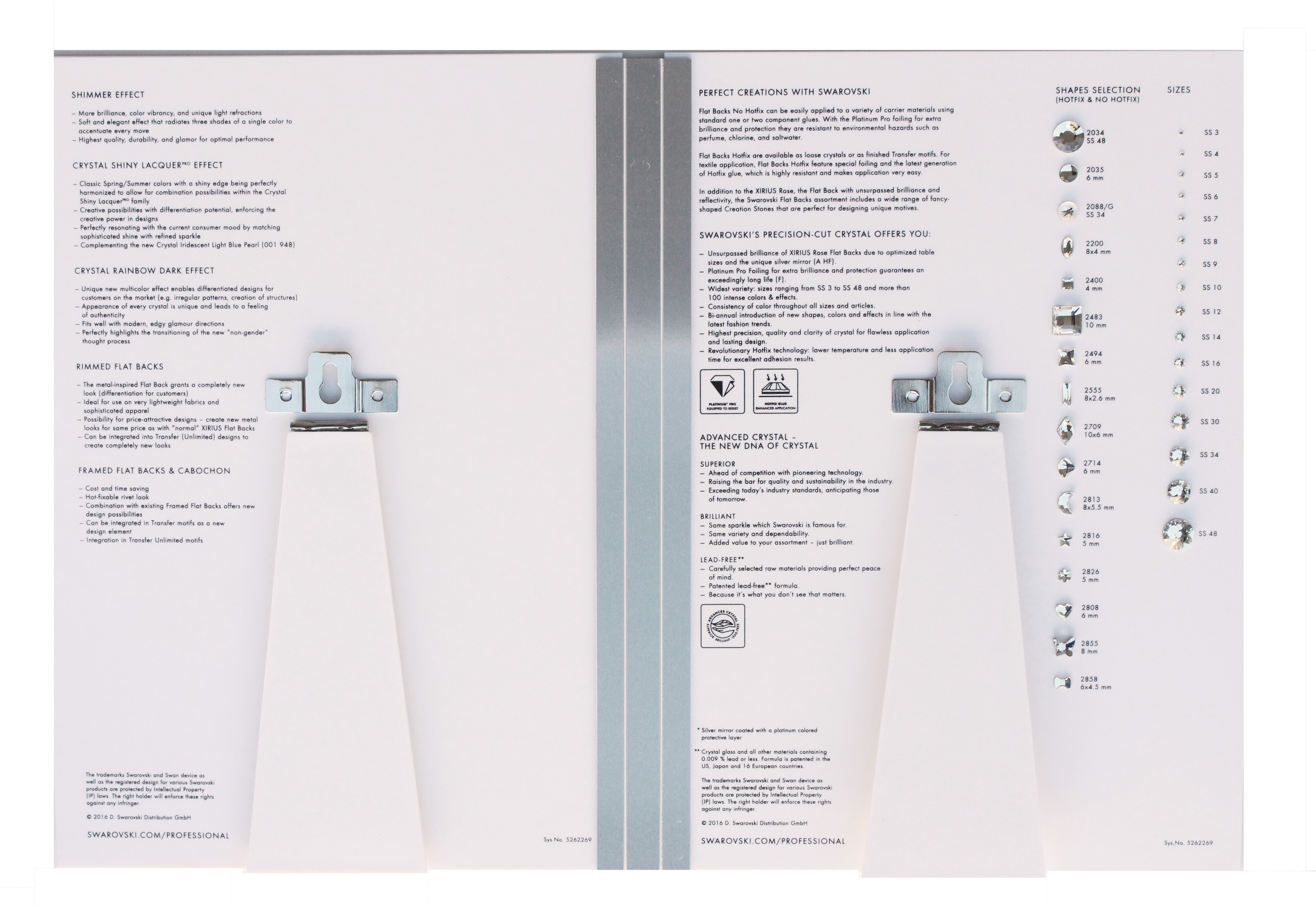 Swarovski Rhinestone Color Board | HarMan Importing