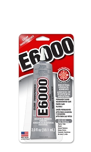 E-6000 Glue 2oz Medium Tube (With Attached Precision Tip)