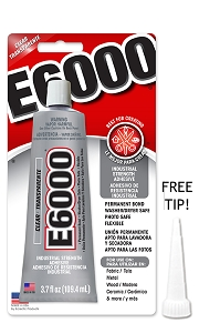 E-6000 Glue 3.7oz Large Tube