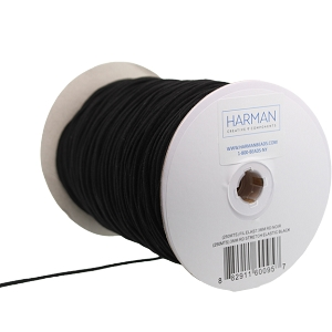 Elastic by the Spool (Round) 3mm Black (1 Spool)