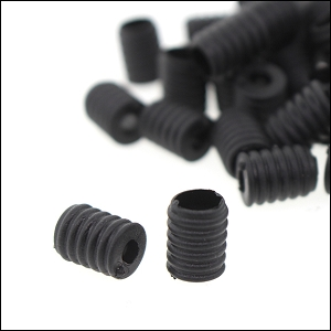 Silicon Elastic Adjuster Tube 7x10 Black (50 Pieces)