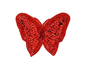 Butterfly Beaded & Sequin Applique #8129 3.5