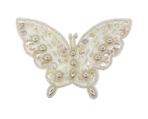 Butterfly Beaded/Sequin/Pearl Applique #8255 4