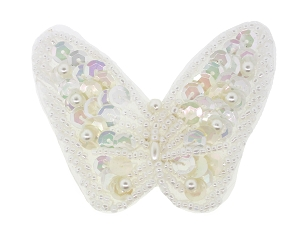 Butterfly Beaded/Sequin/Pearl Applique #8268S 3