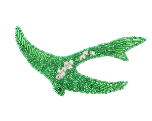 Swallow Beaded & Rhinestone Applique #8275 4