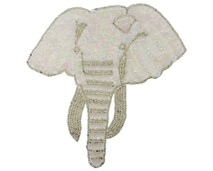 Elephant Beaded & Sequin Applique #8407 5.5