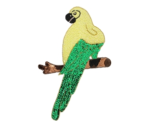 Large Parrot Beaded & Sequin Applique #8746 14