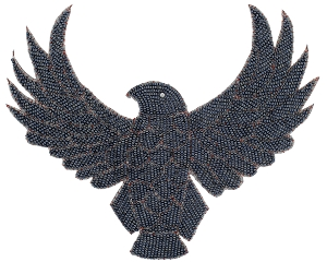 Eagle Beaded Applique #KS8754 9