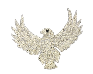 Eagle Beaded Applique #KS8754A 3.5
