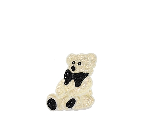 Small Bear Beaded & Sequin Applique #8891 5