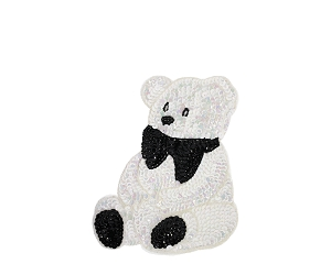 Medium Bear Beaded & Sequin Applique #8892 7.5