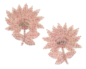 Flower Beaded & Rhinestone Applique #K8273X 4
