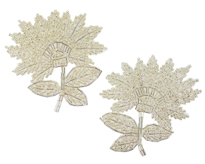Flower Beaded Applique #K8273X 4