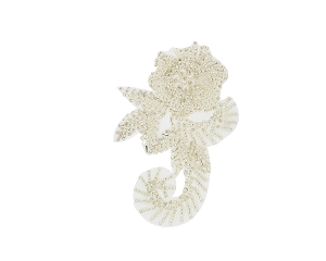 Flower Beaded & Pearl Applique #K8282 4.5