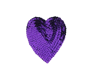 Heart Sequin Applique #8395 3.5