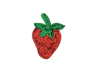 Large Strawberry Beaded & Sequin Applique #8865L 6
